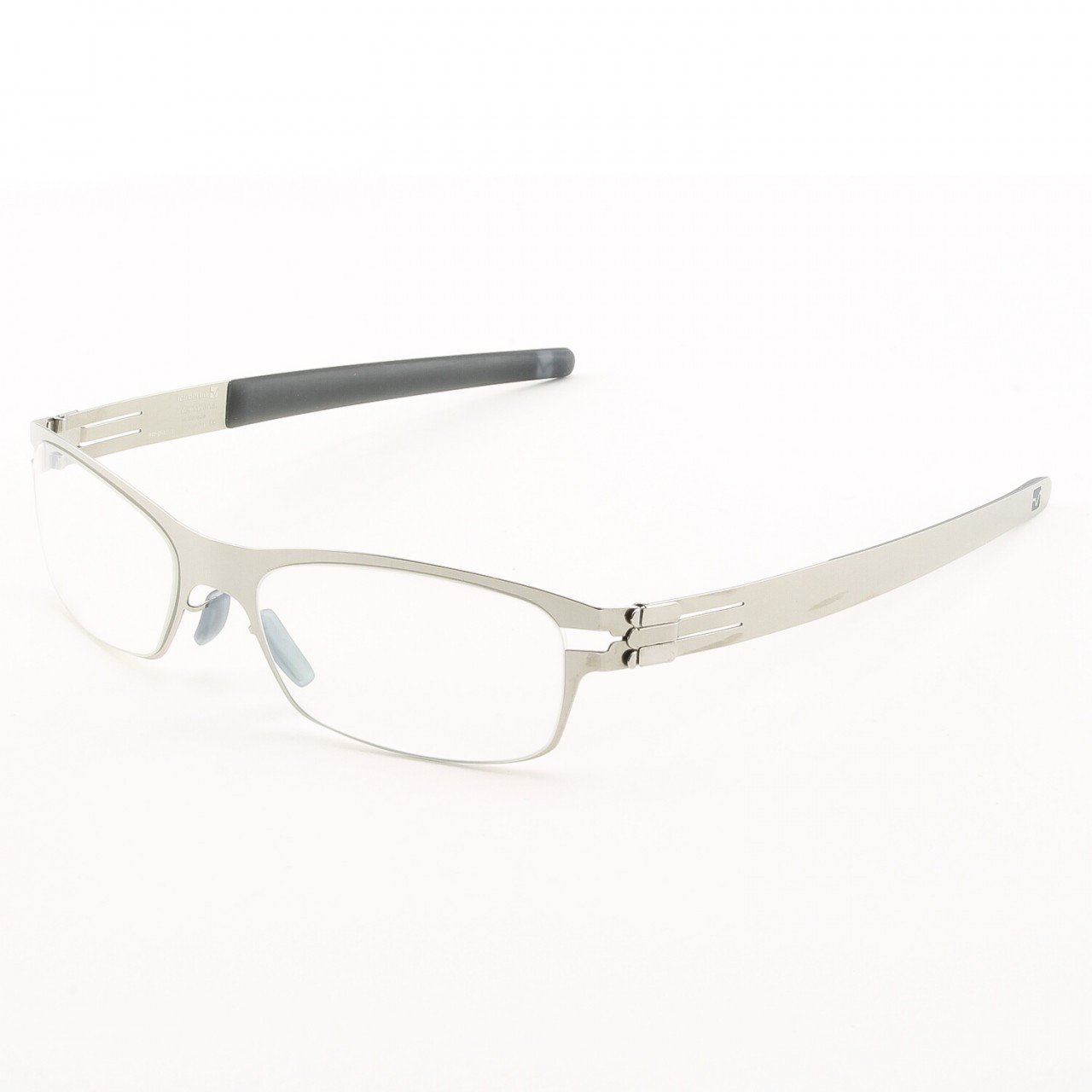 ic! Berlin Tennooji Eyeglasses Col. Chrome with Clear Lenses