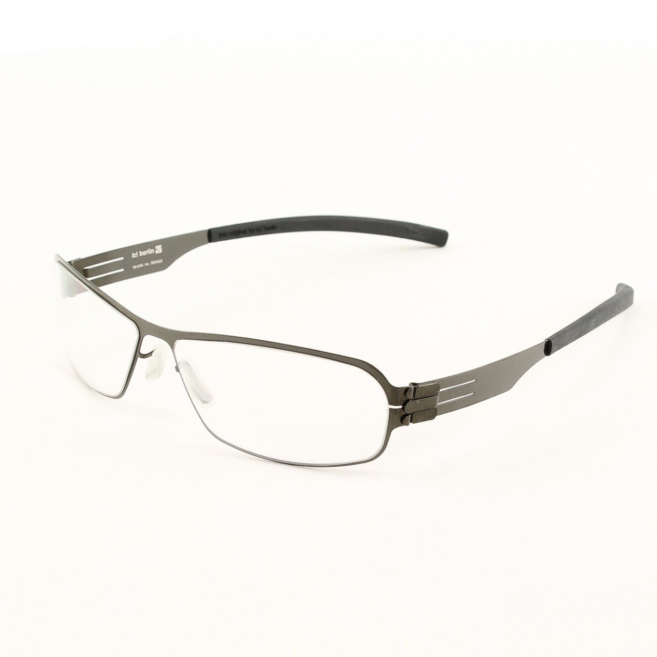 ic! Berlin Ye G. Eyeglasses Col. Gun Metal with Clear Lenses