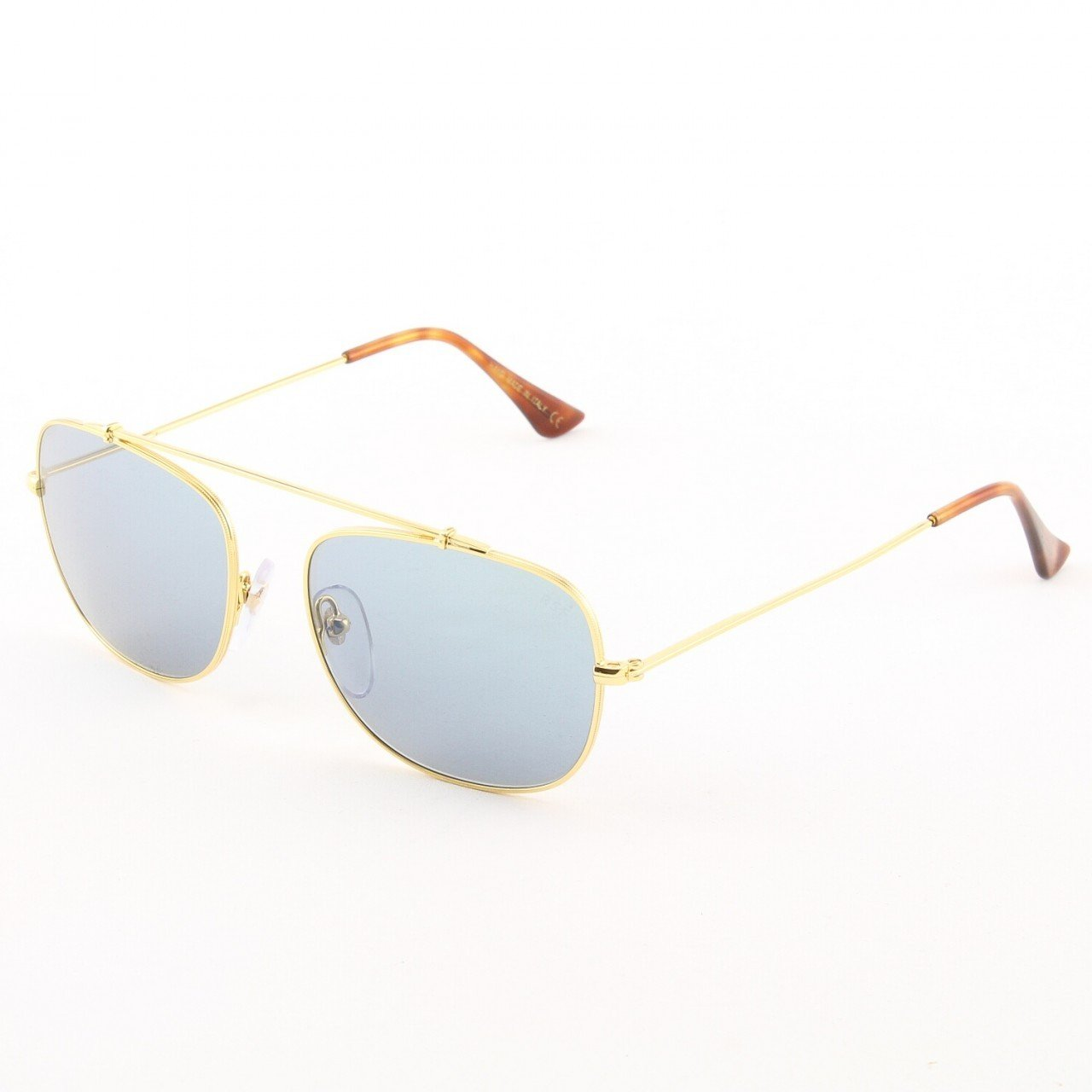 Super Primo 725/2M Sunglasses Gold Brown Havana with Blue Zeiss Lenses by RETROSUPERFUTURE