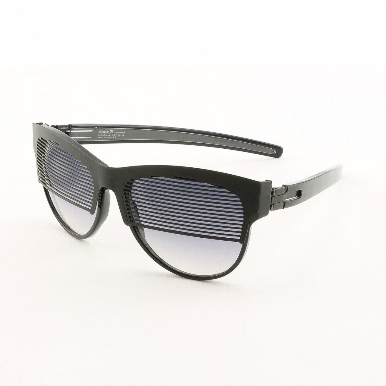 ic! Berlin Dr. Ihab Sunglasses Col. Black with Black Gradient Lenses