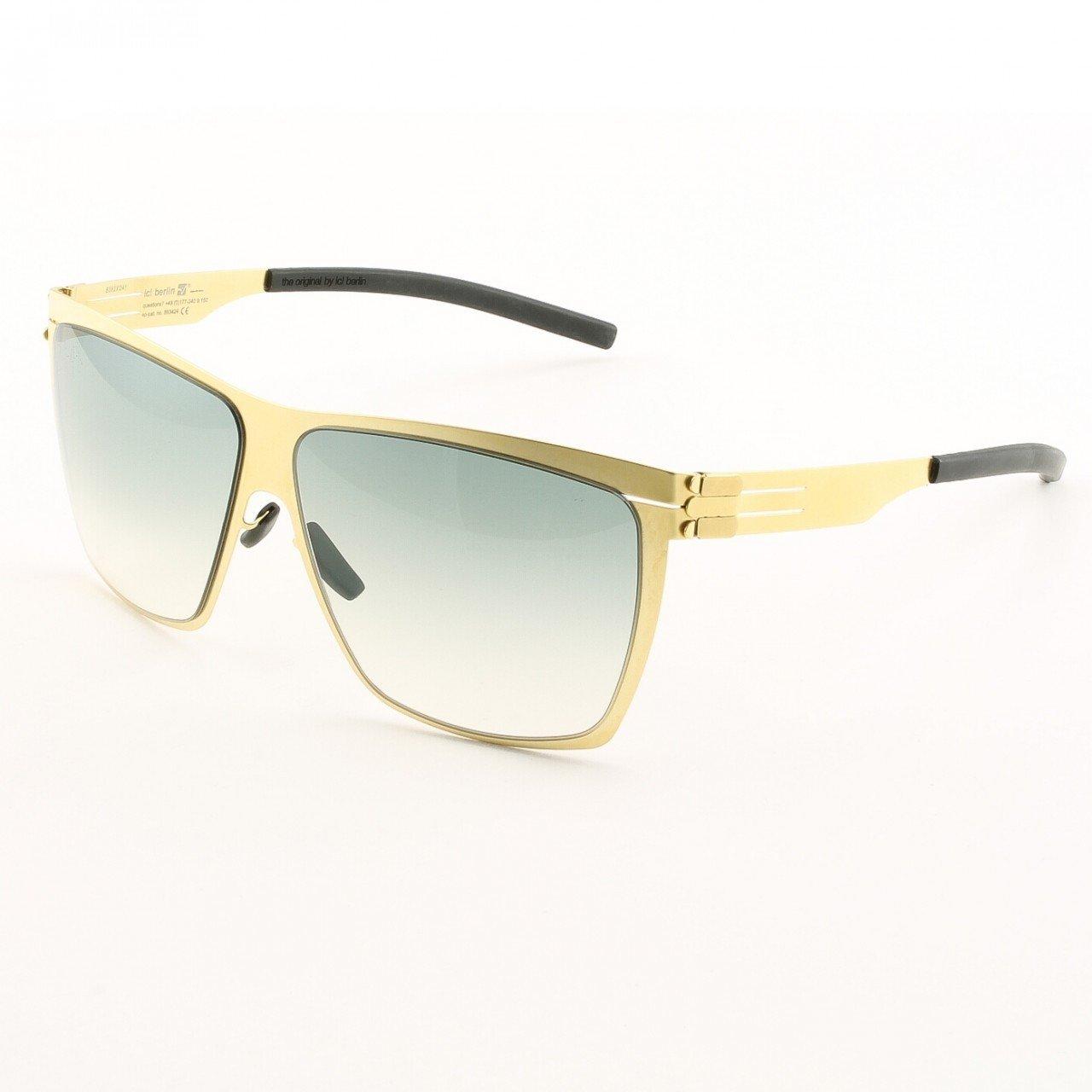 ic! Berlin Dark Energy Sunglasses Col. Gold with Black Gradient Lenses