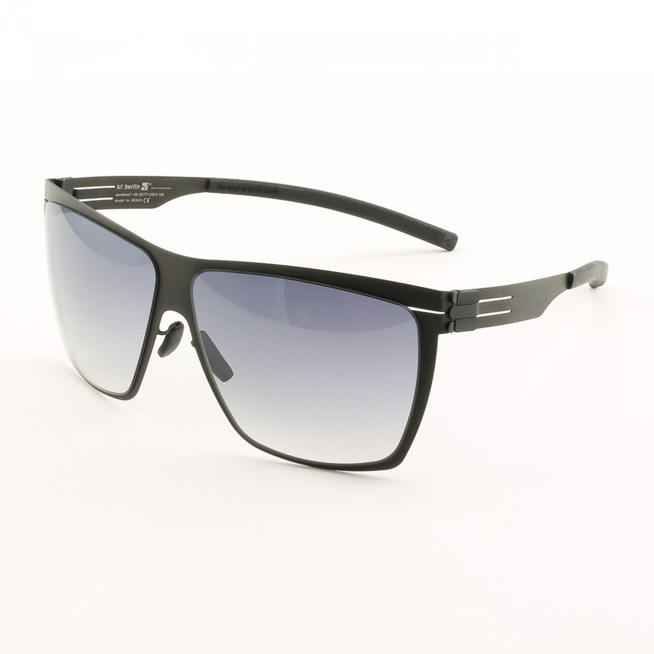 ic! Berlin Dark Energy Sunglasses Col. Black with Black Gradient Lenses