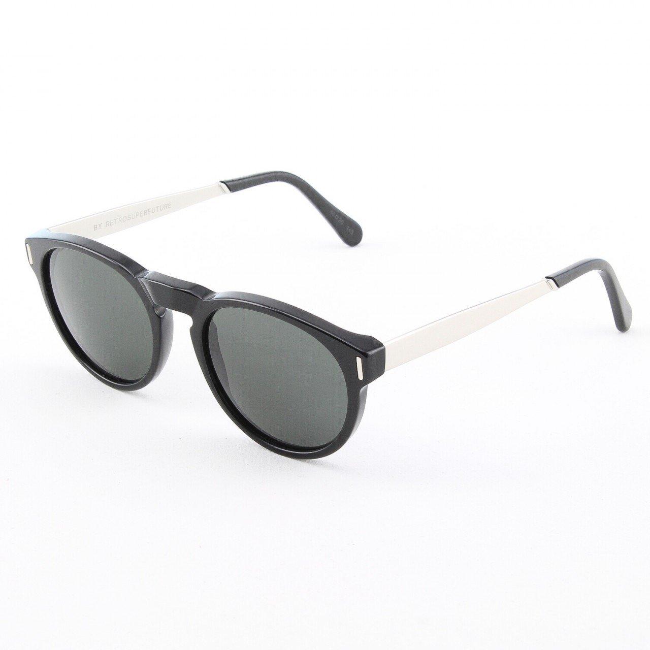 Super Paloma 769/3T Sunglasses Color Francis Silver Black by RETROSUPERFUTURE