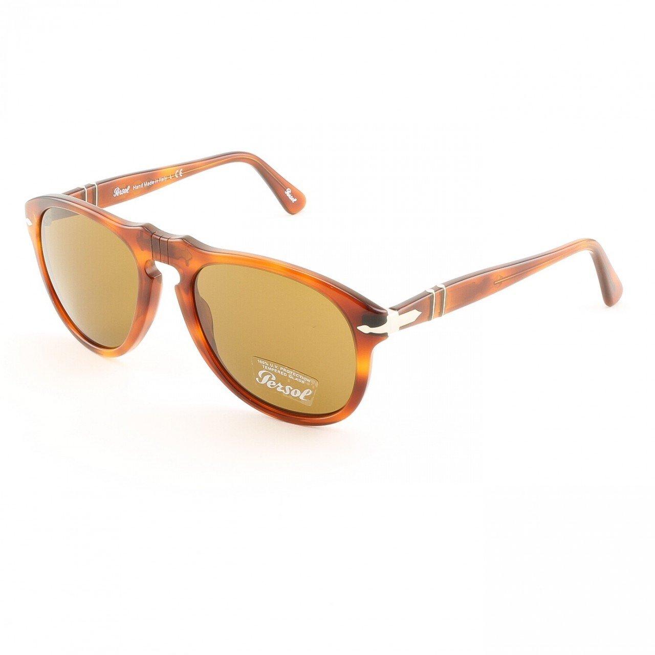 Persol 714 96/33 54mm Folding Sunglasses Light Havana Brown Crystal Lens PO0714