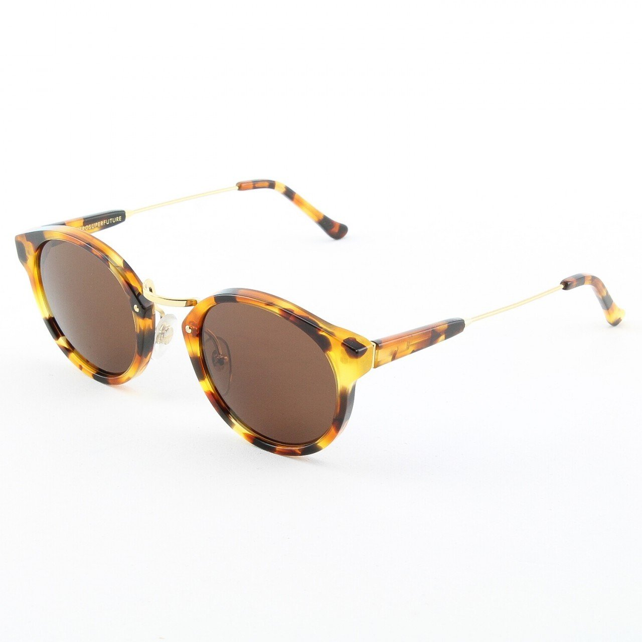 Super Panama 476/3T Sunglasses by RETROSUPERFUTURE Color Dark Havana with Brown Zeiss Lenses
