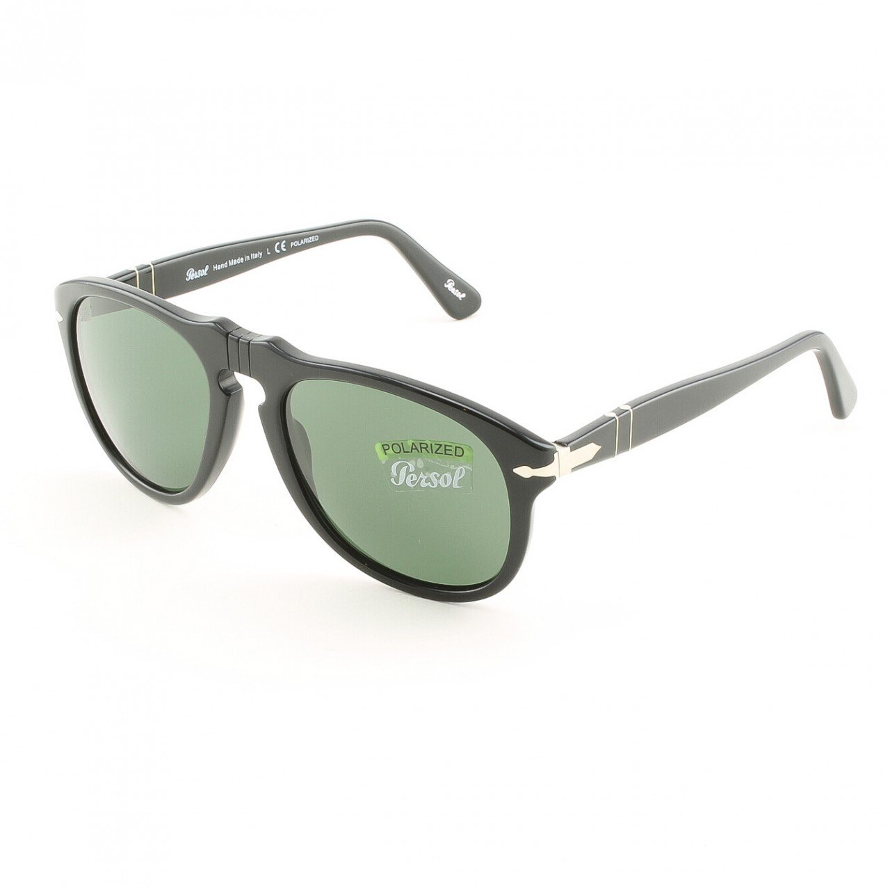 Persol PO0649 95/58 54mm Black Sunglasses with Grey Green Polarized Lenses