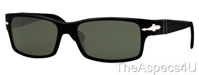 NWT PERSOL 2803 s 95/31  BLACK  DARK GREEN LENS SIZE 55  AUTHENTIC&NEW PO2803S