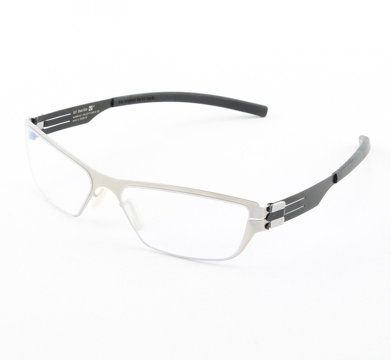 ic! Berlin Uncertainty Principle Eyeglasses Col. Black / Silver with Clear Lenses