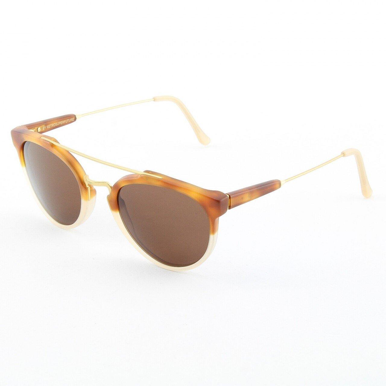 Super Giaguaro 472/3A Sunglasses Color Caffelatte Brown Havana Beige by RETROSUPERFUTURE
