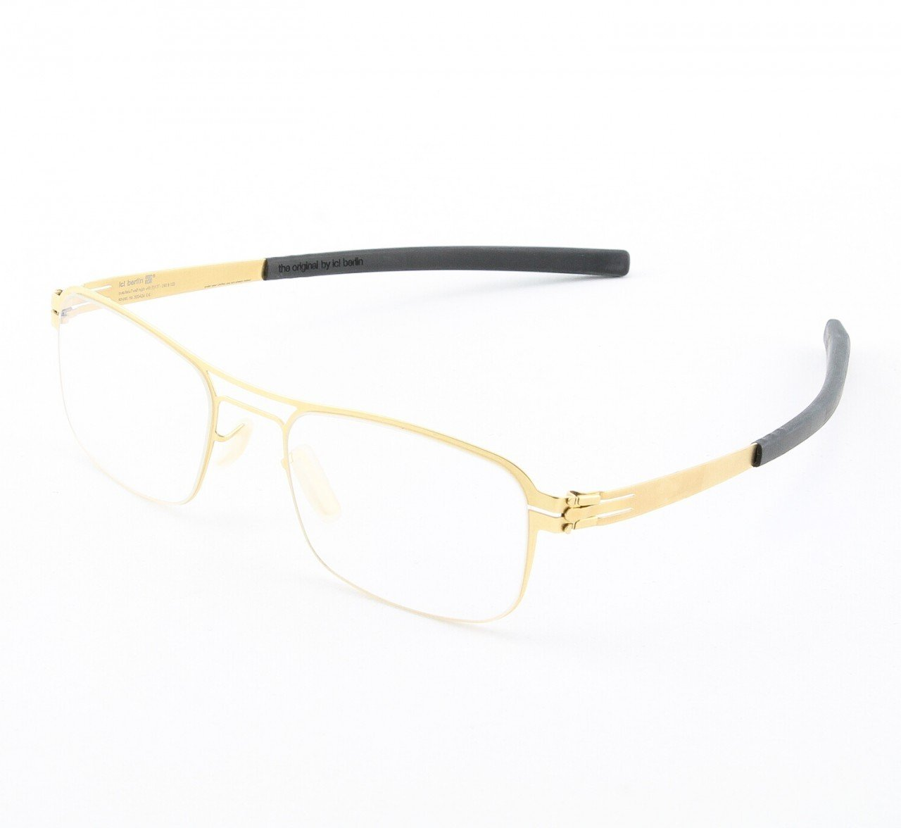 ic! Berlin Motti D. Eyeglasses Col. matte Gold with Clear Lenses