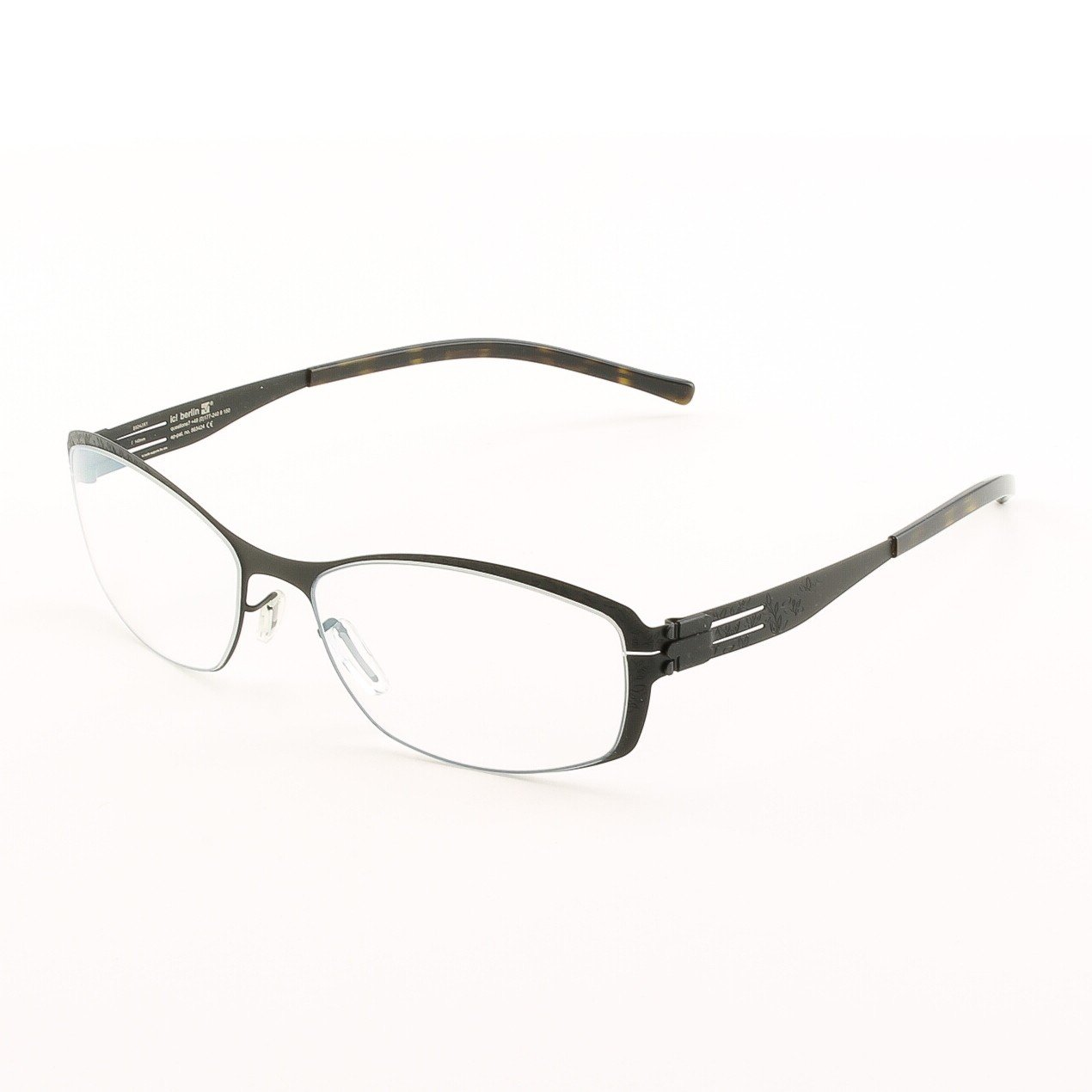 ic! Berlin Edelweiss Eyeglasses Col. Black with Clear Lenses