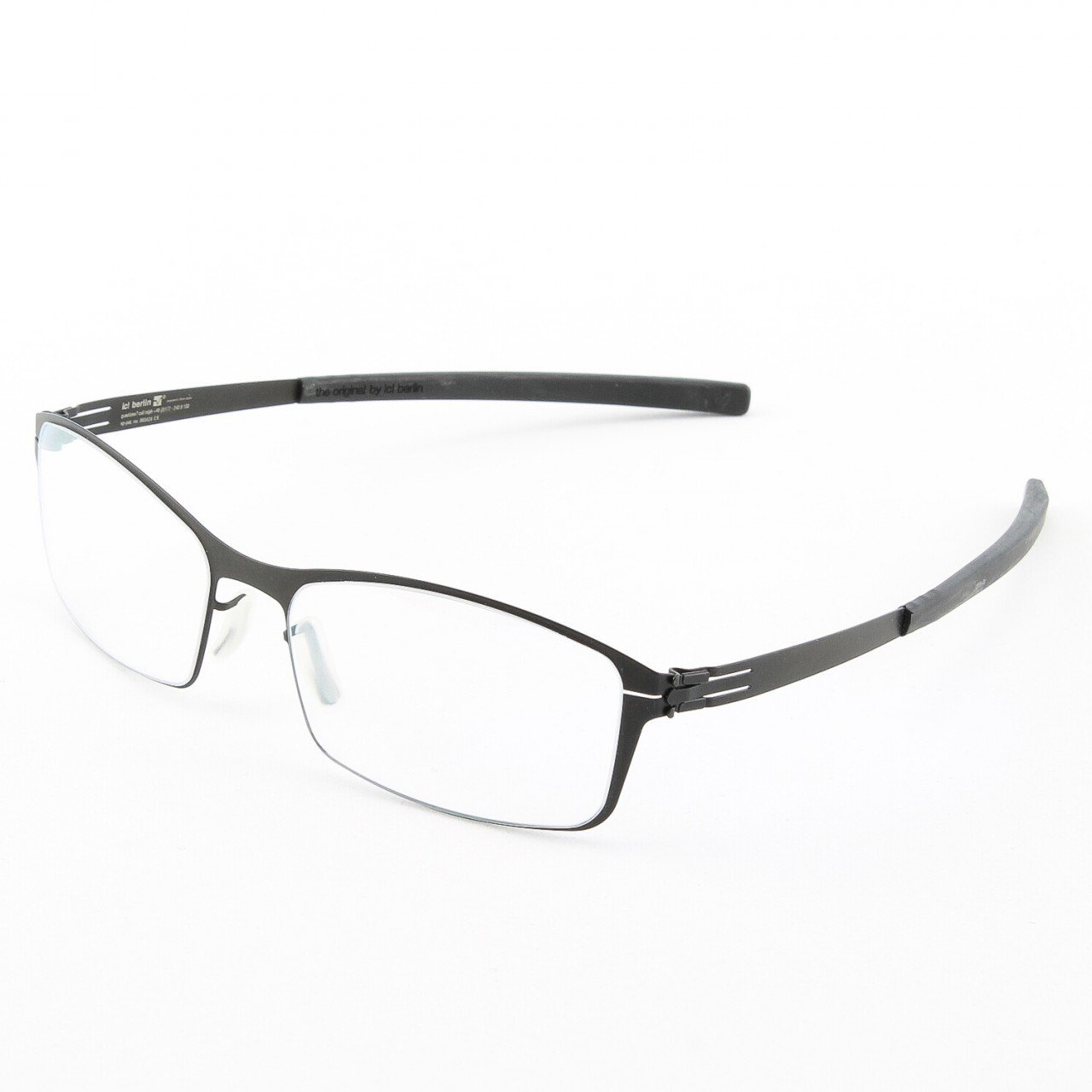 ic! Berlin Displacement Current Eyeglasses Col. Black with Clear Lenses