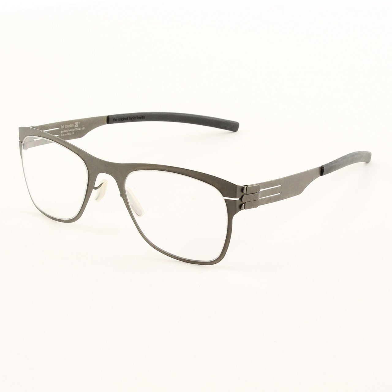 ic! Berlin Capricorno Graphite Eyeglasses Col. Graphite with Clear Lenses