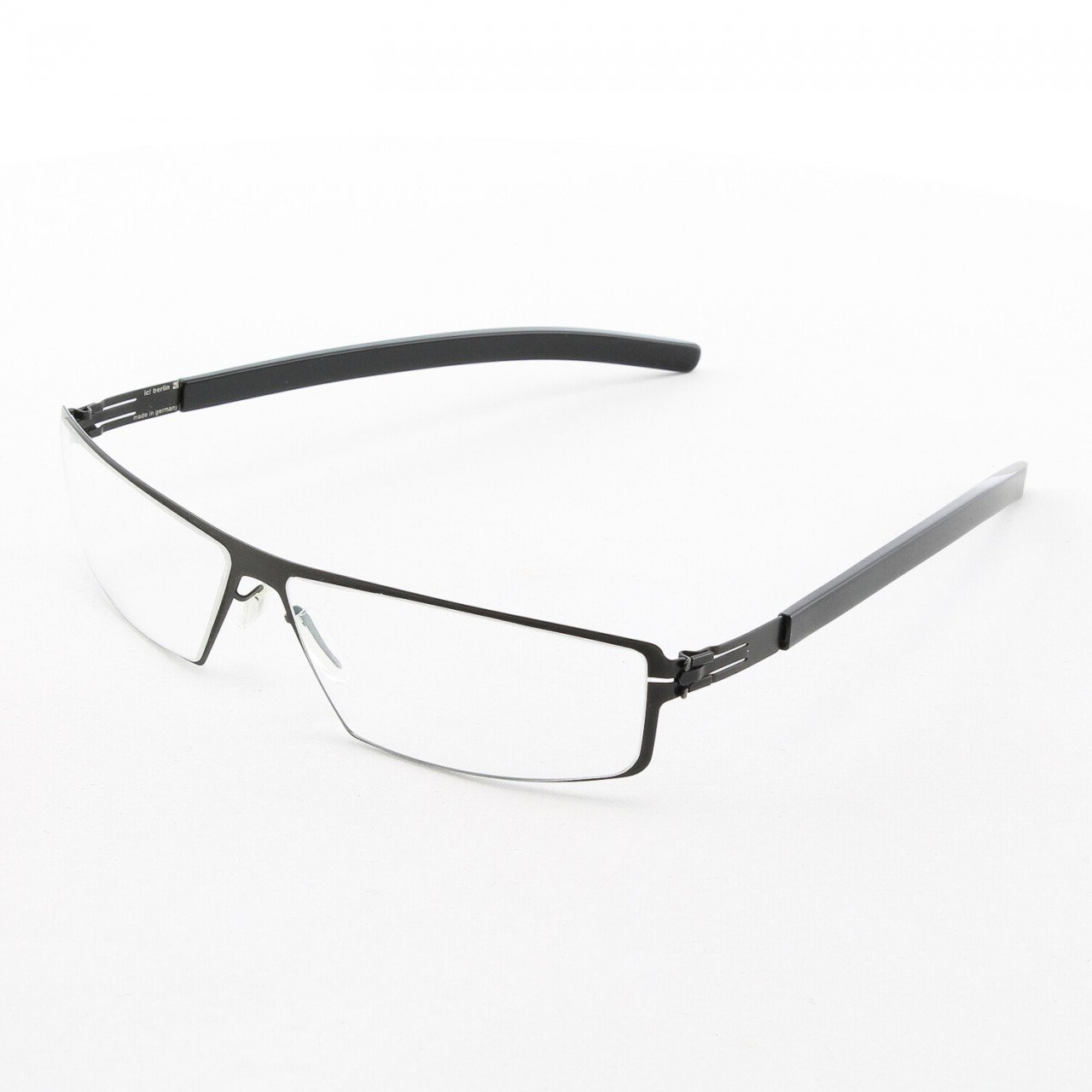 ic! Berlin Hornberg Eyeglasses Col. Black with Clear Lenses