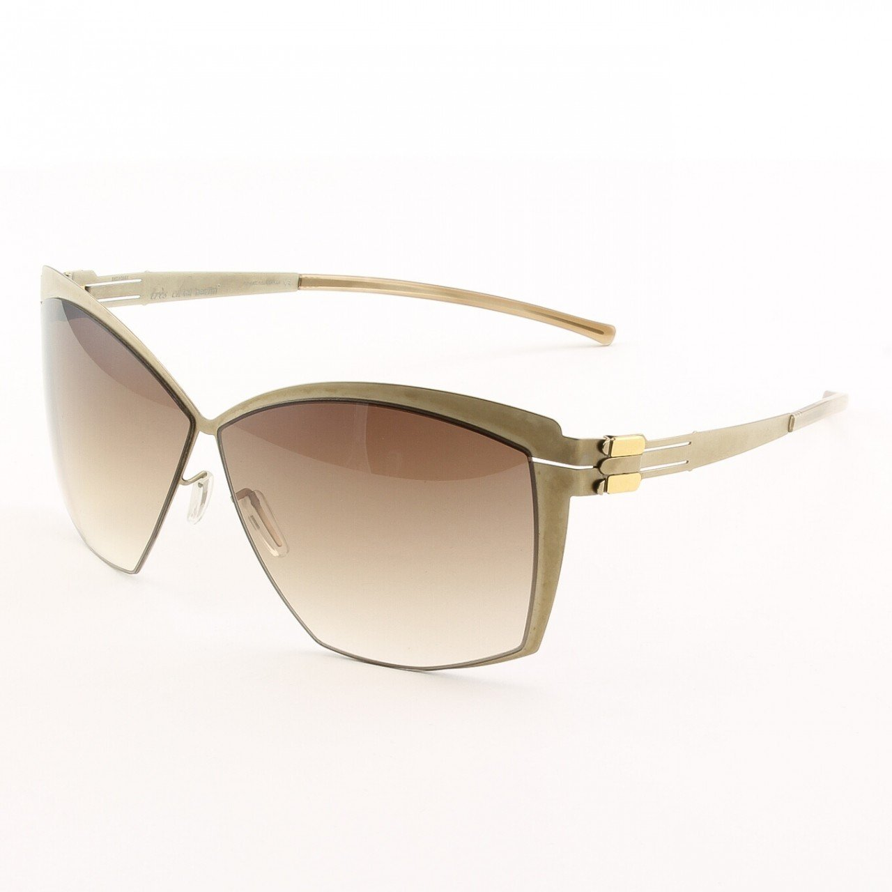 ic! Berlin Provocante Sunglasses Col. Bronze with Brown Lenses