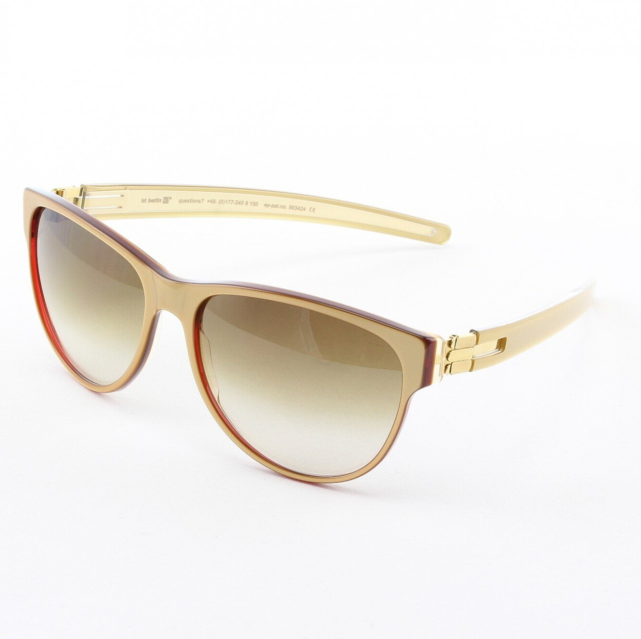 ic! Berlin Kate Sunglasses Col. Gold / Red with Brown Gradient Lenses