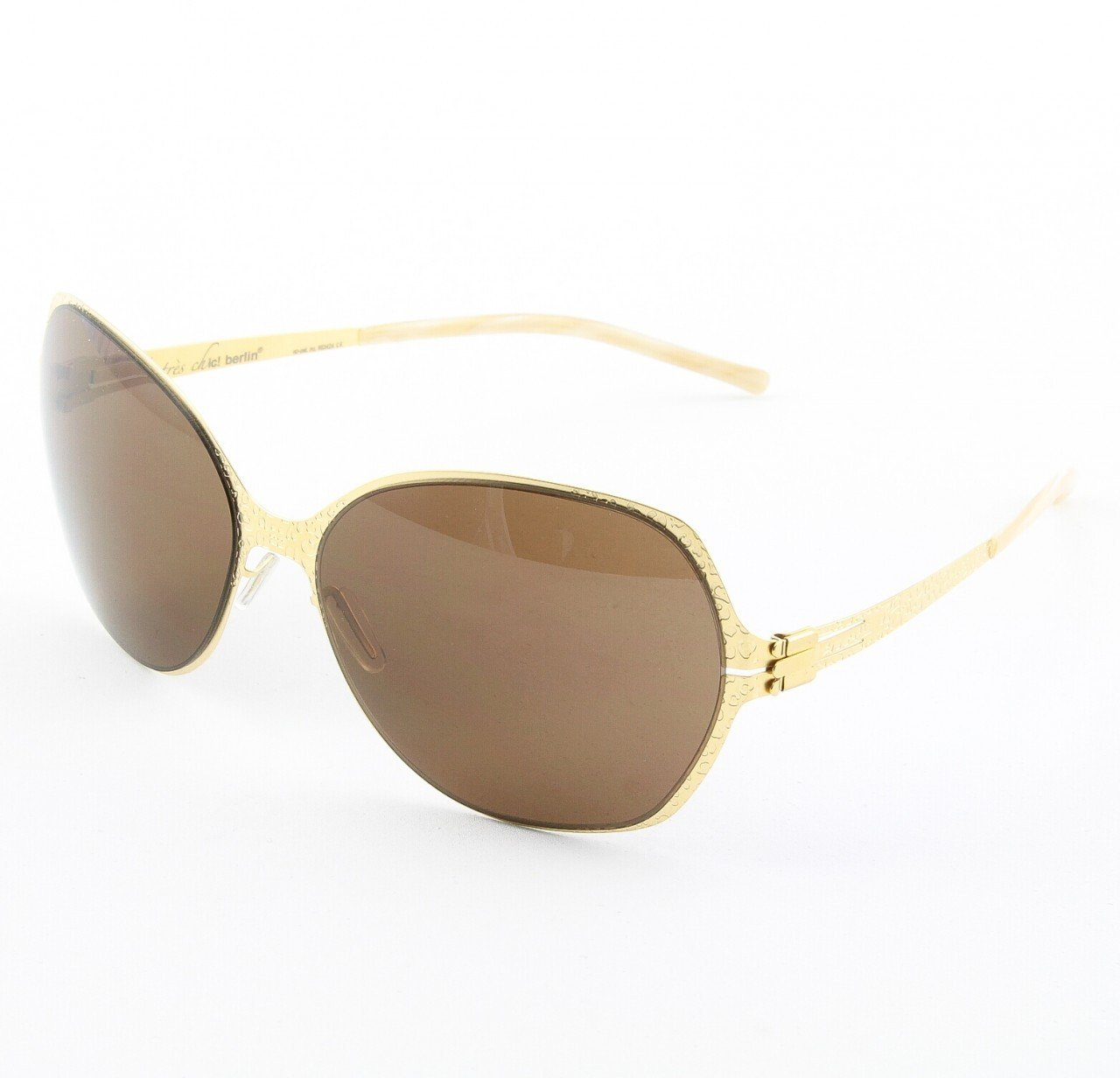 ic! Berlin Feline Sunglasses Col. Gold with Brown Lenses