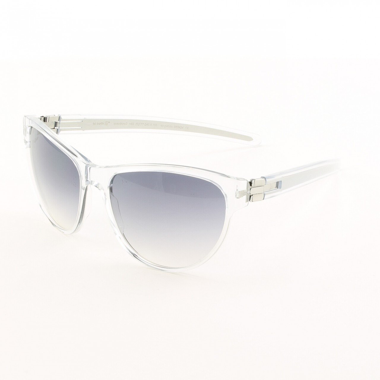 ic! Berlin Dr. Ihab Sunglasses Col. Clear / Chrome with Black Gradient Lenses