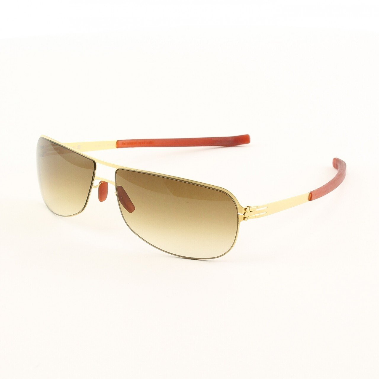 ic! Berlin Seep Sunglasses Col. Gold with Brown Lenses
