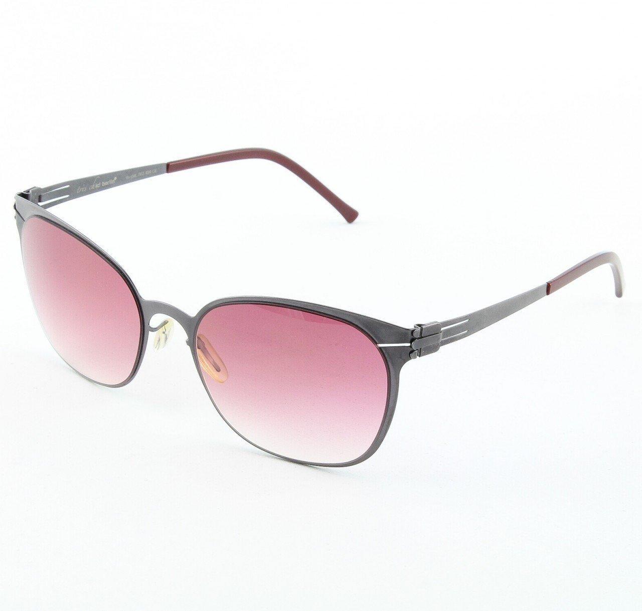 ic! Berlin Samedi Sunglasses Col. Aubergine with Rose Gradient Lenses