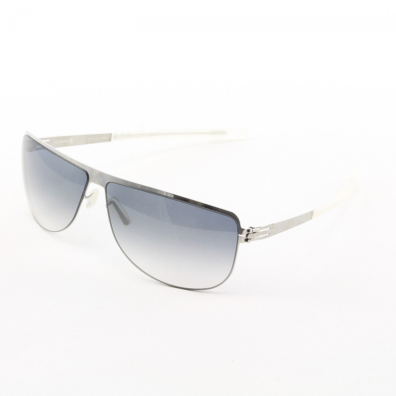 ic! Berlin Anselm Sunglasses Col. Chrome with Black Gradient Lenses
