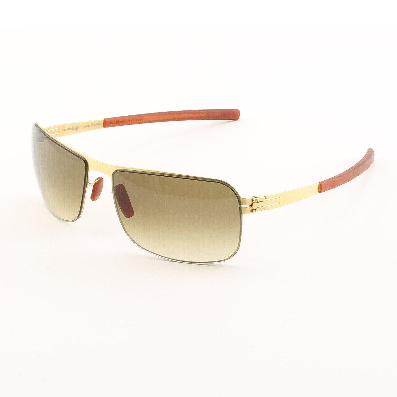 ic! Berlin Erik Sunglasses Col. Gold with Brown Gradient Lenses