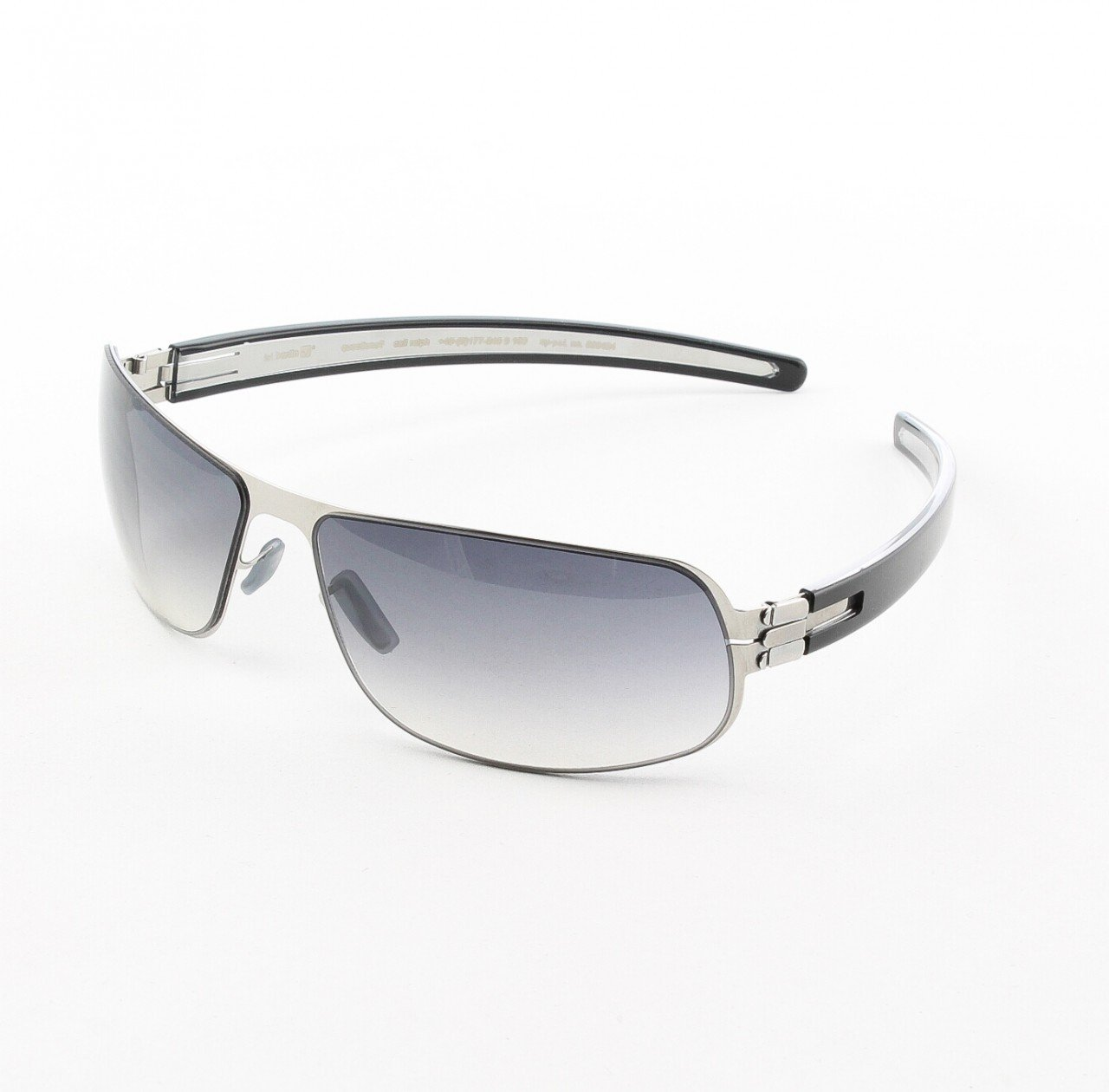 ic! Berlin I See 2003 Sunglasses Col. Chrome/Black with Black Gradient Lenses