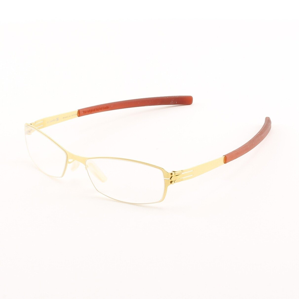 ic! Berlin Bobby Eyeglasses Col. Gold with Clear Lenses