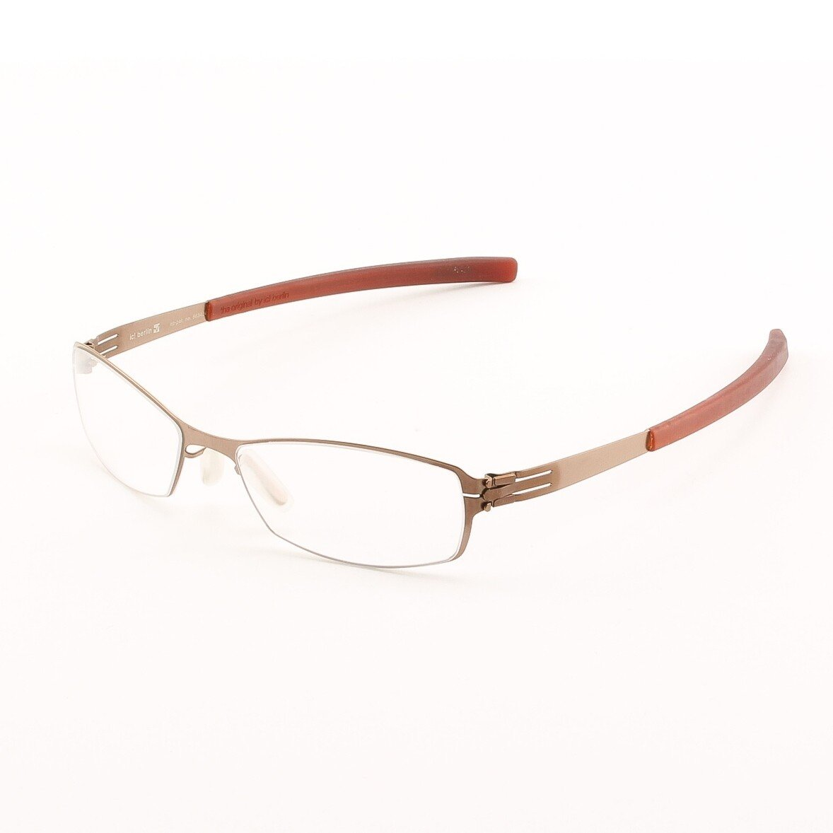 ic! Berlin Bobby Eyeglasses Col. Brown with Clear Lenses