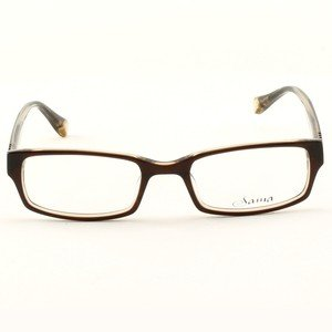 Loree Rodkin Chace Eyeglasses by Sama Col. Brown with Clear Lenses