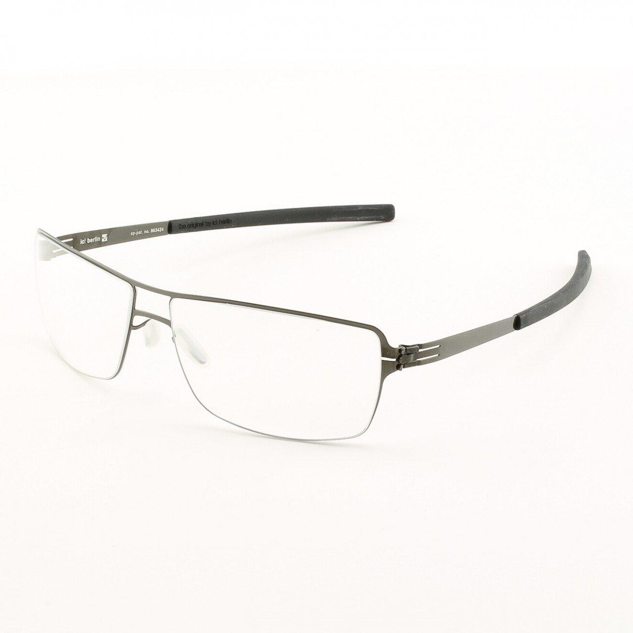 ic! Berlin Duke Eyeglasses Col. Black with Clear Lenses.