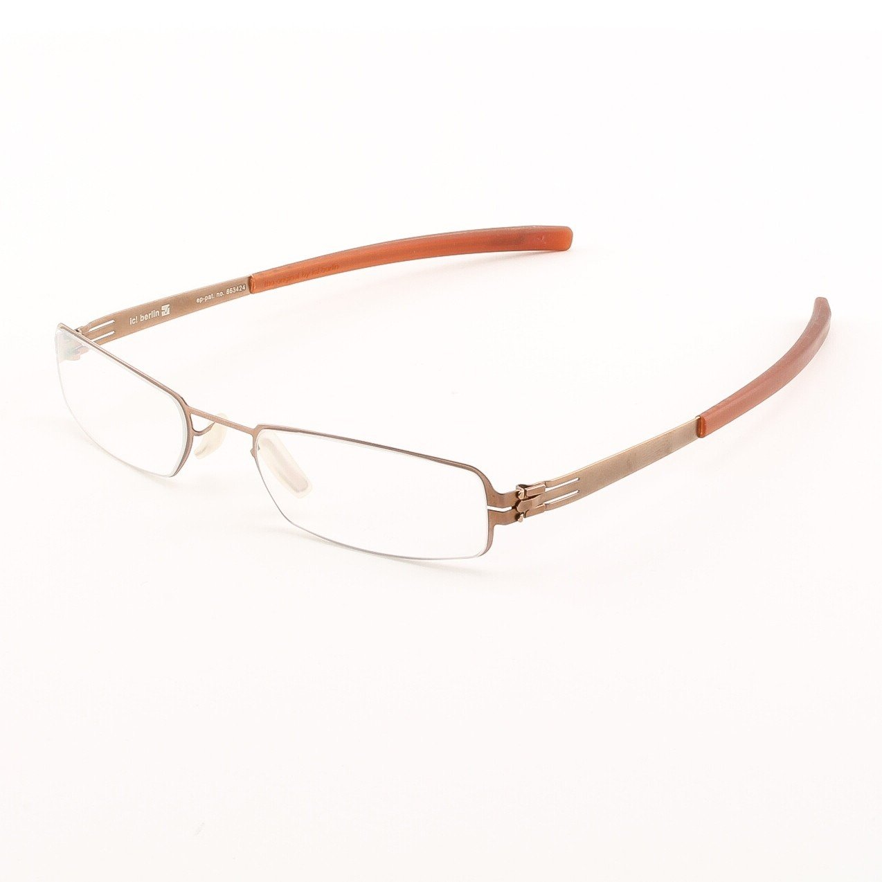 ic! Berlin Edvin Eyeglasses Col. Copper with Clear Lenses