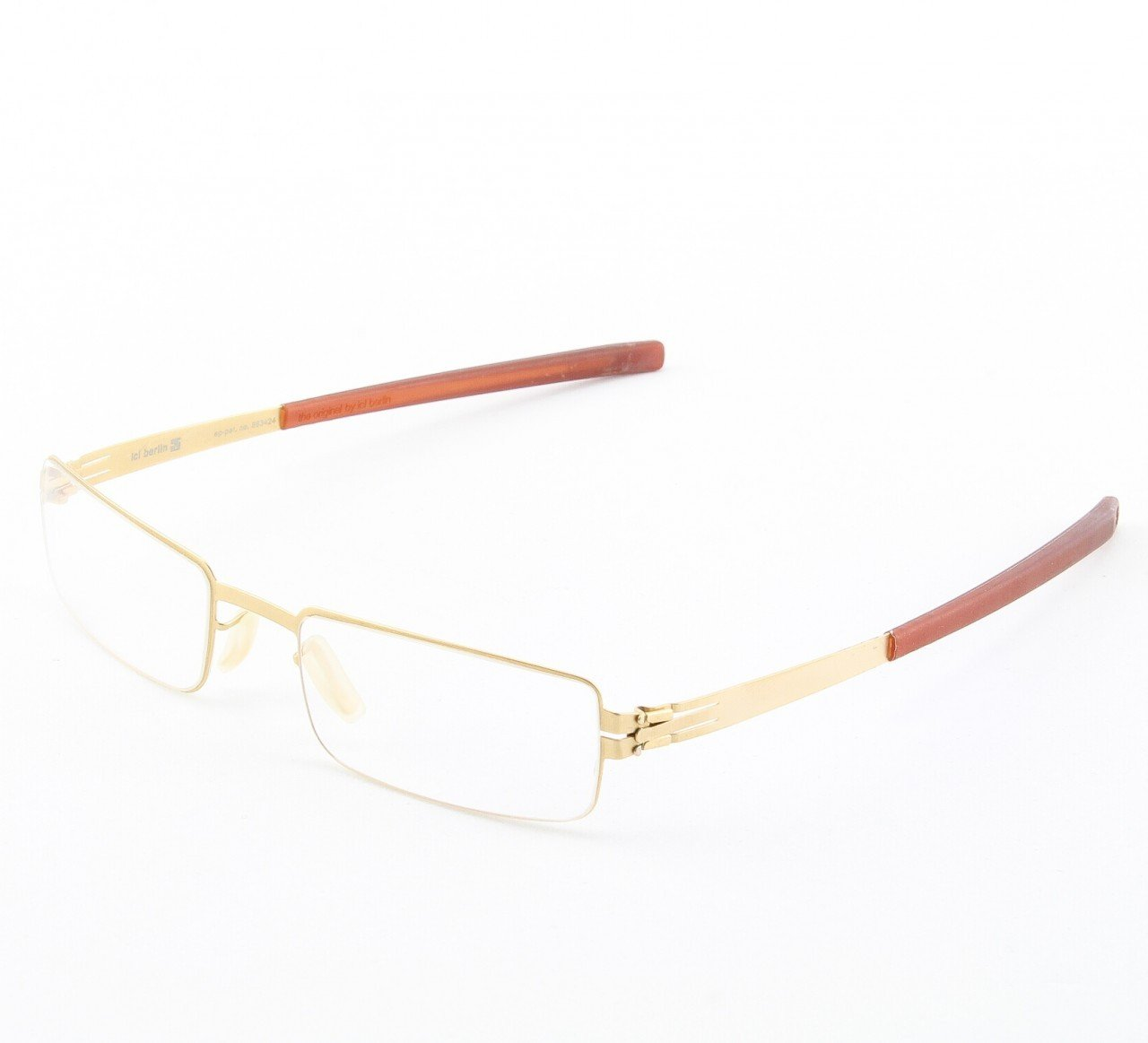 ic! Berlin Fritz W. Eyeglasses Col. Gold with Clear Lenses
