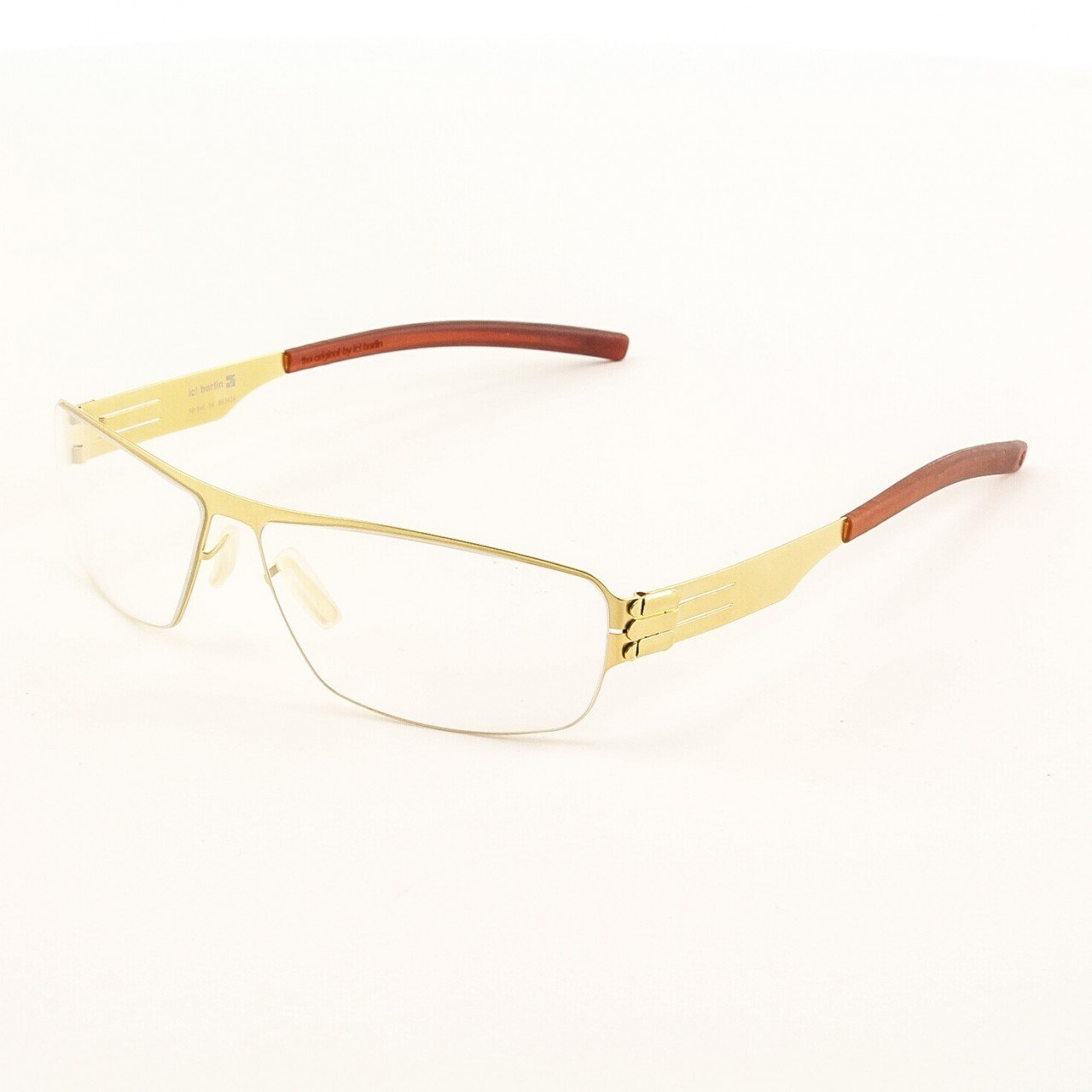 ic! Berlin Hira Eyeglasses Col. Gold with Clear Lenses