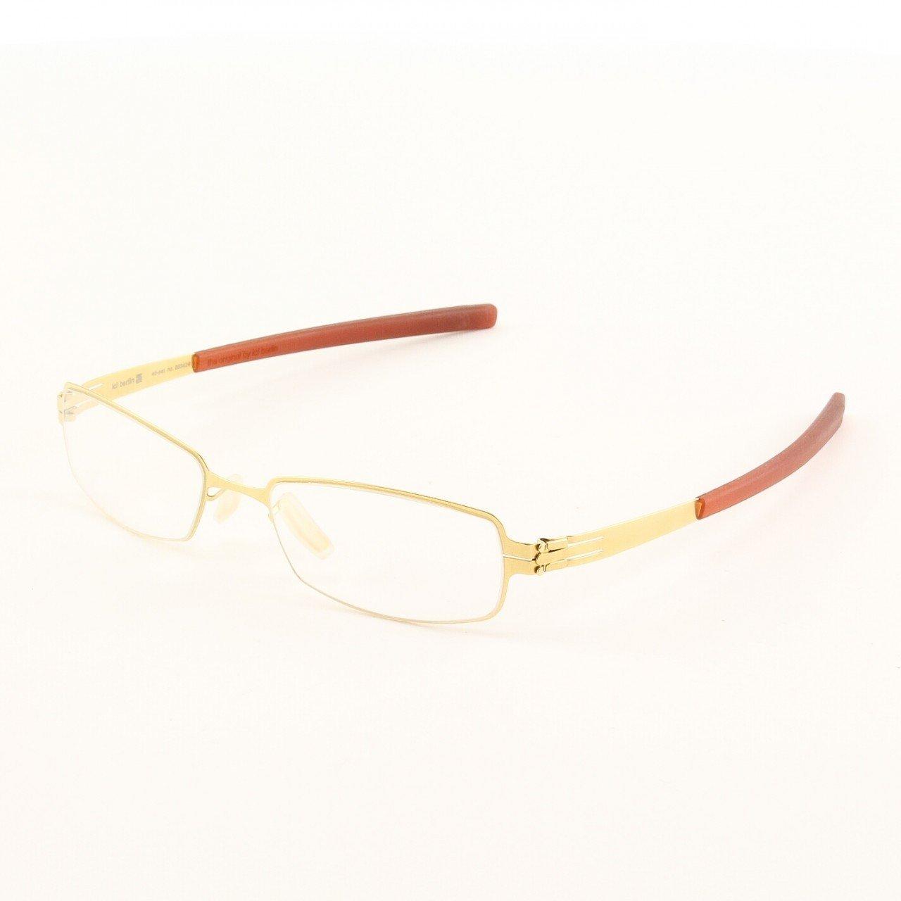 ic! Berlin Kolja Eyeglasses Col. Gold/rust with Clear Lenses