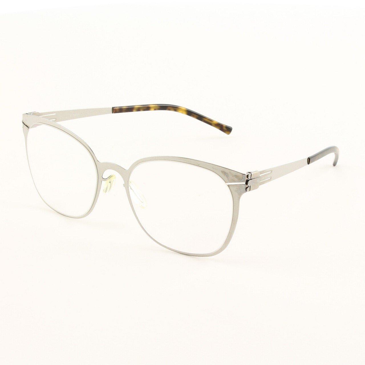 ic! Berlin Samedi Eyeglasses Col. Chrome with Clear Lenses