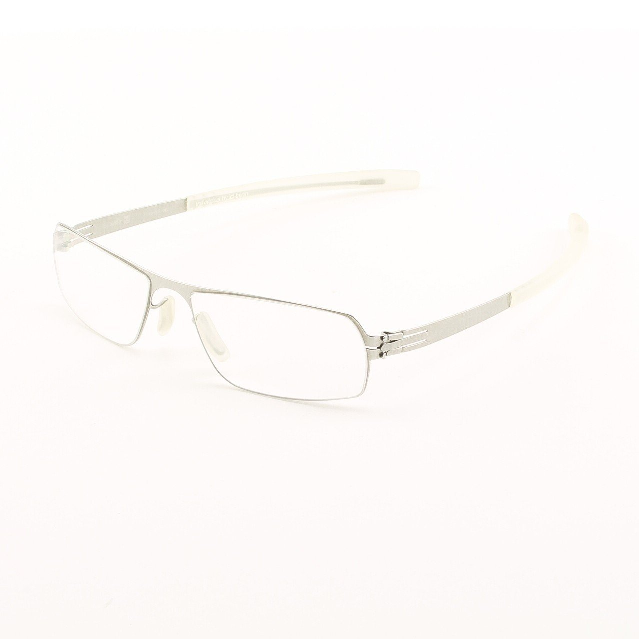 ic! Berlin Anni Eyeglasses Col. Chrome with Clear Lenses