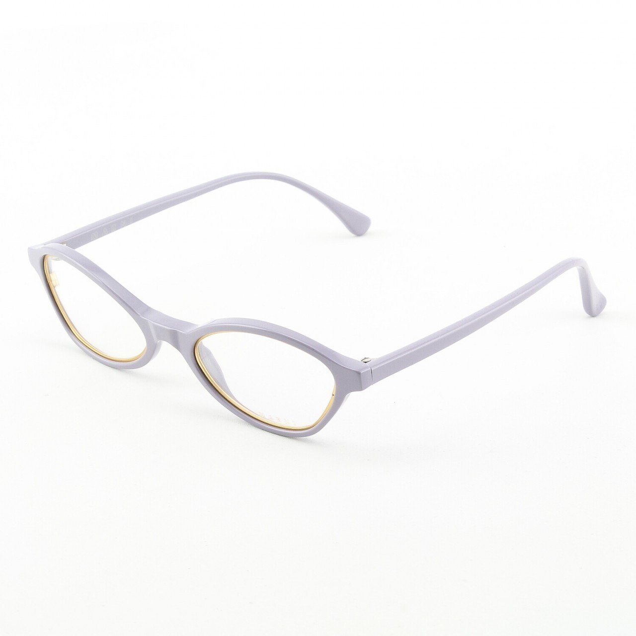 Marni MA648S Eyeglasses Col. 10 Lavendar High Gloss Enamel Frame with Gold Accents and Clear Lenses