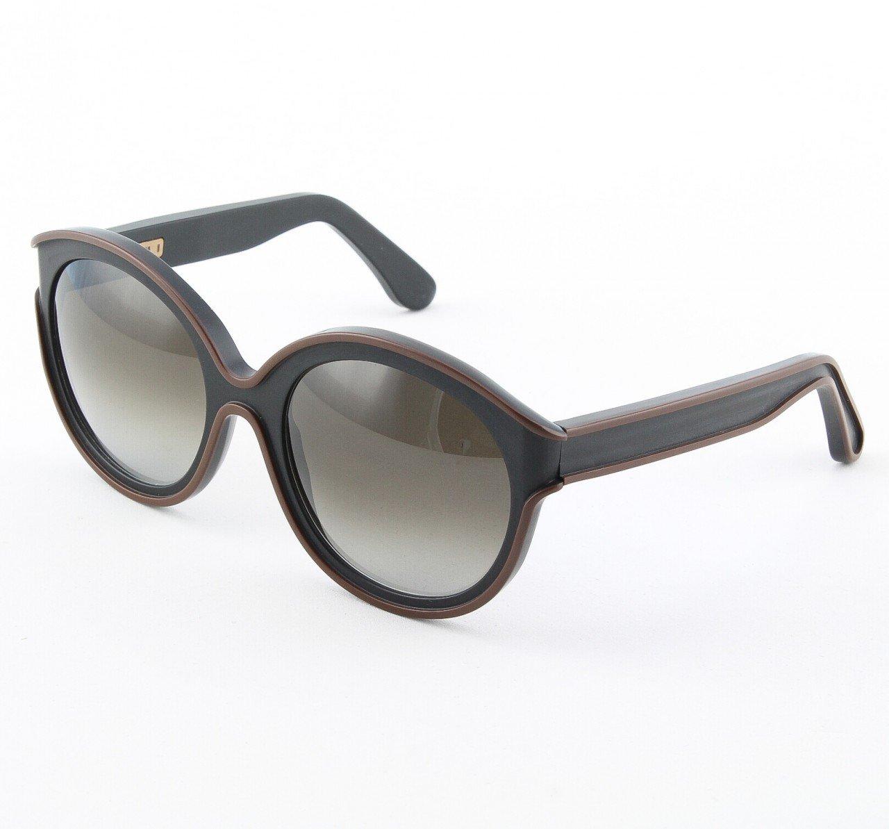 Marni MA195 Sunglasses Col. 05 Opaque Black w/ Chocolate Brown Trim with Gray Gradient Lenses