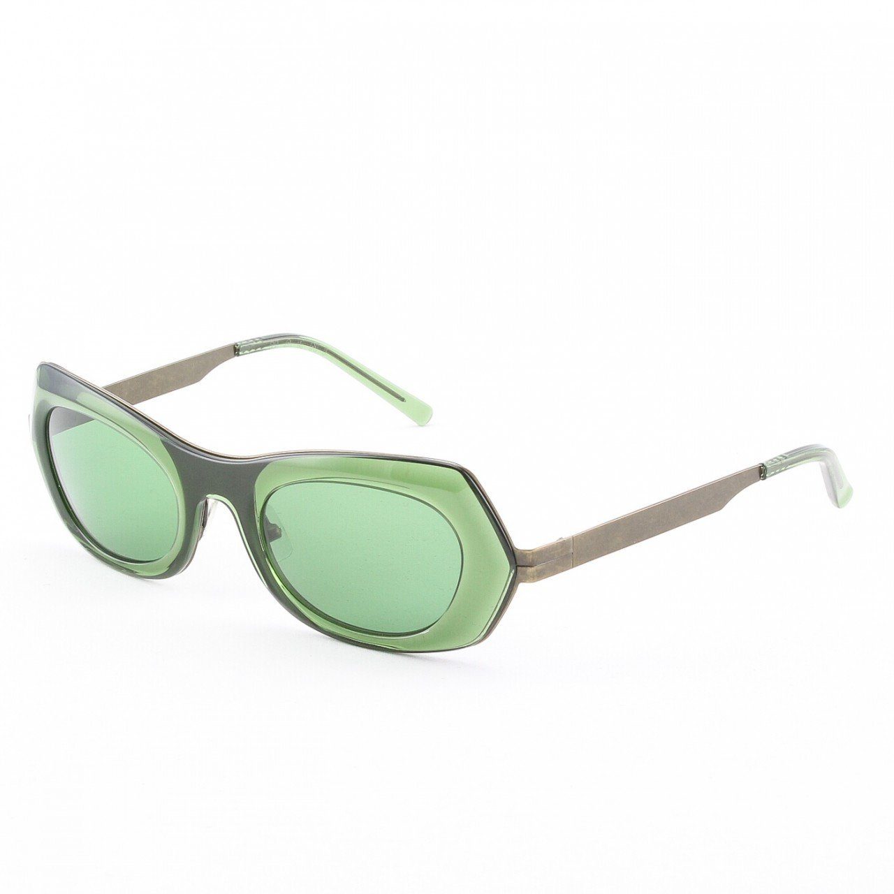 Marni MA188S Sunglasses Col. 07 Translucent Green and Antique Bronze with Green Lenses
