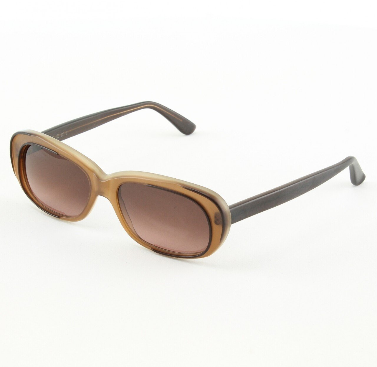 Marni MA174S Sunglasses Col. 04 Translucent Taupe w/ Graphic Grey Accents with Gray Gradient Lenses