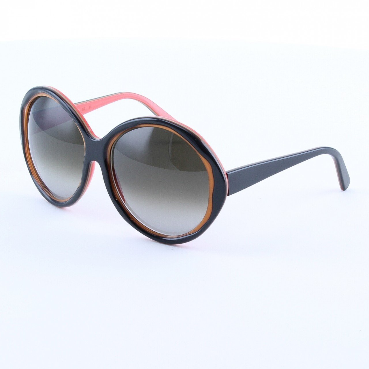 Marni MA156 Sunglasses Col. 03 Dark Chocolate Brown and Tan with Brown Lenses