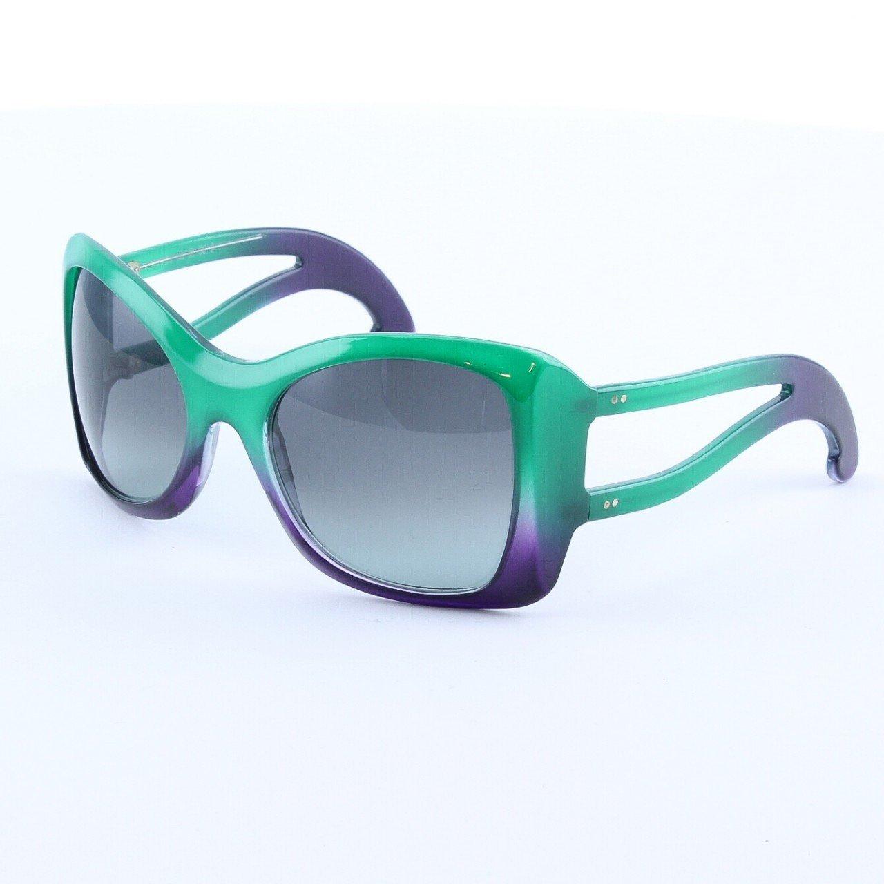 Marni MA150S Sunglasses Col. 04 Emerald Green Graduating to Purple with Gray Lenses