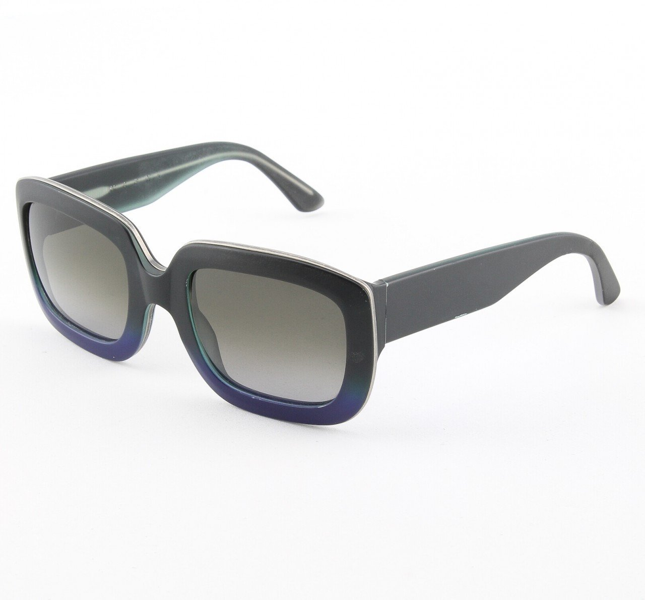 Marni MA142 Sunglasses Col. 11 Dark Charcoal Deep Violet with Gray Gradient Lenses