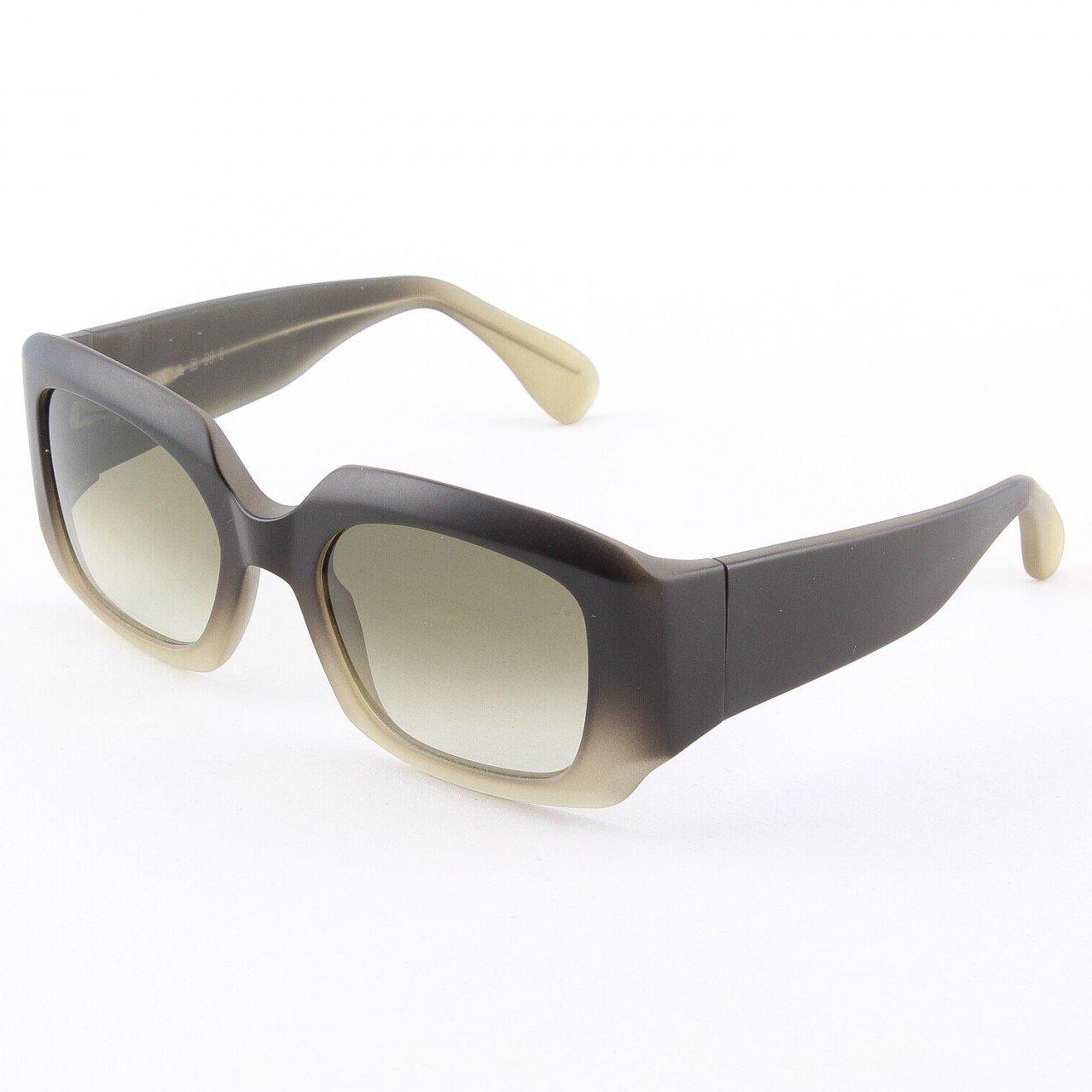 Marni MA129S Sunglasses Col. 15 Opaque Dark Brown Cream Graduation with Brown Gradient Lenses