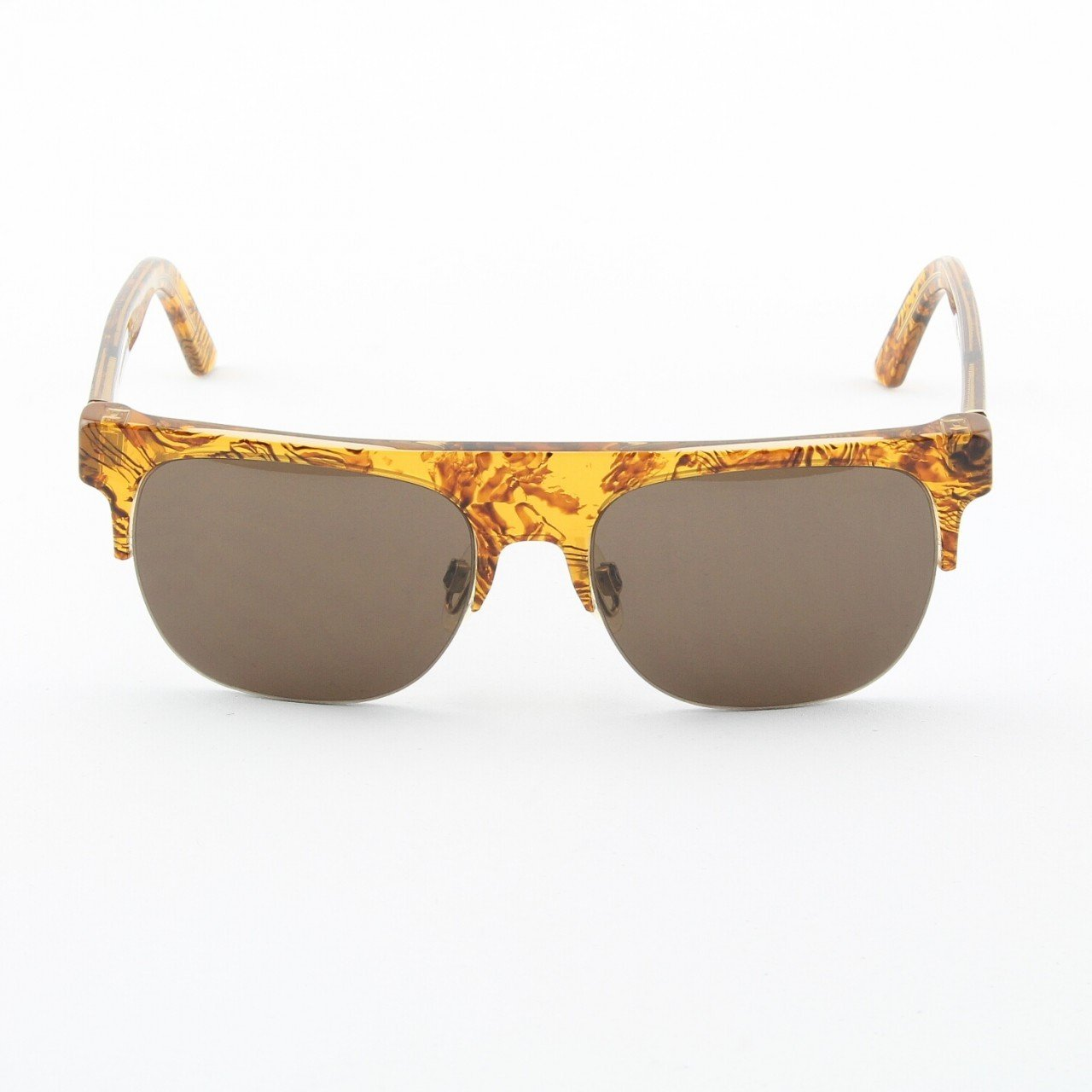 Super Andrea 264 Sunglasses Summer Safari Pattern with Brown Zeiss Lenses by RETROSUPERFUTURE