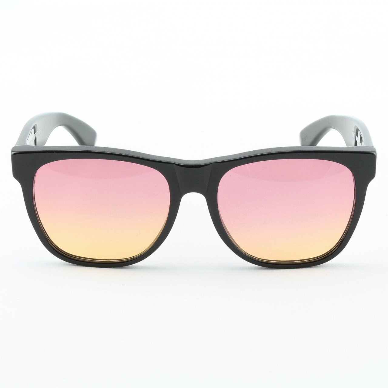Super Classic 205 Wayfarer Sunglasses Black with Pink Lenses by RETROSUPERFUTURE