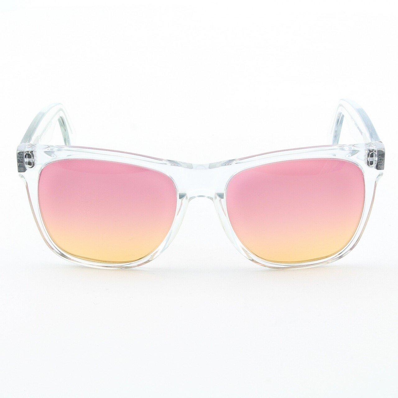 Super Classic 206 Wayfarer Sunglasses Clear with Pink Orange Gradient Lenses by RETROSUPERFUTURE