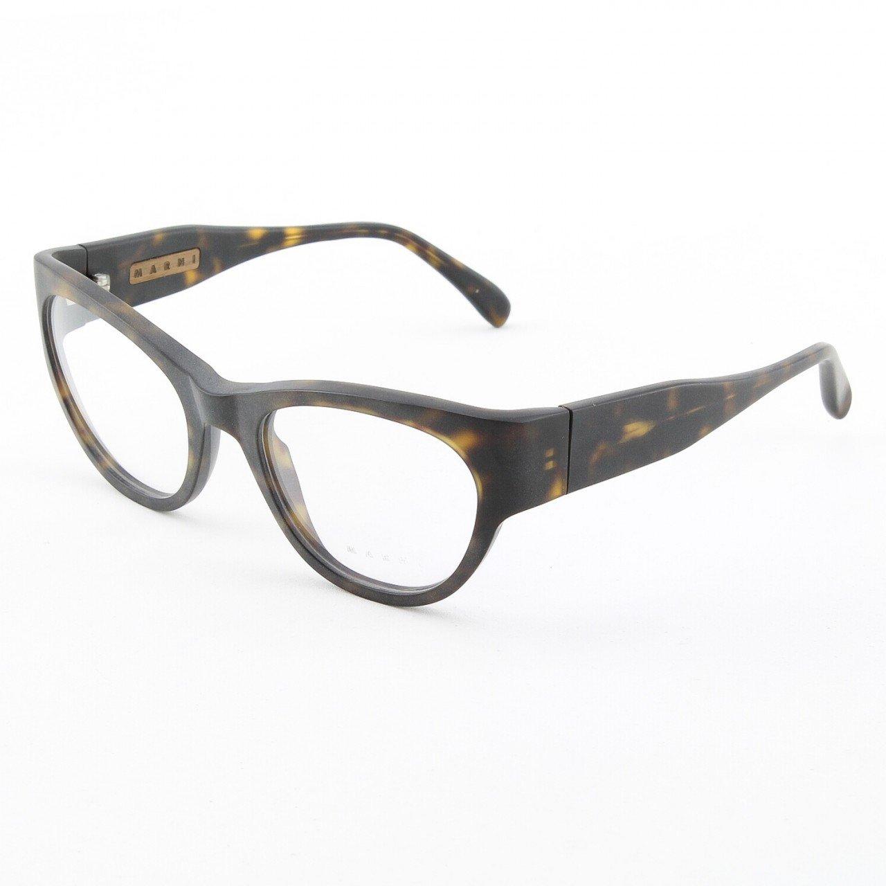 Marni MA683S Eyeglasses Col. 08 Black Tortoise Matte with Clear Lenses
