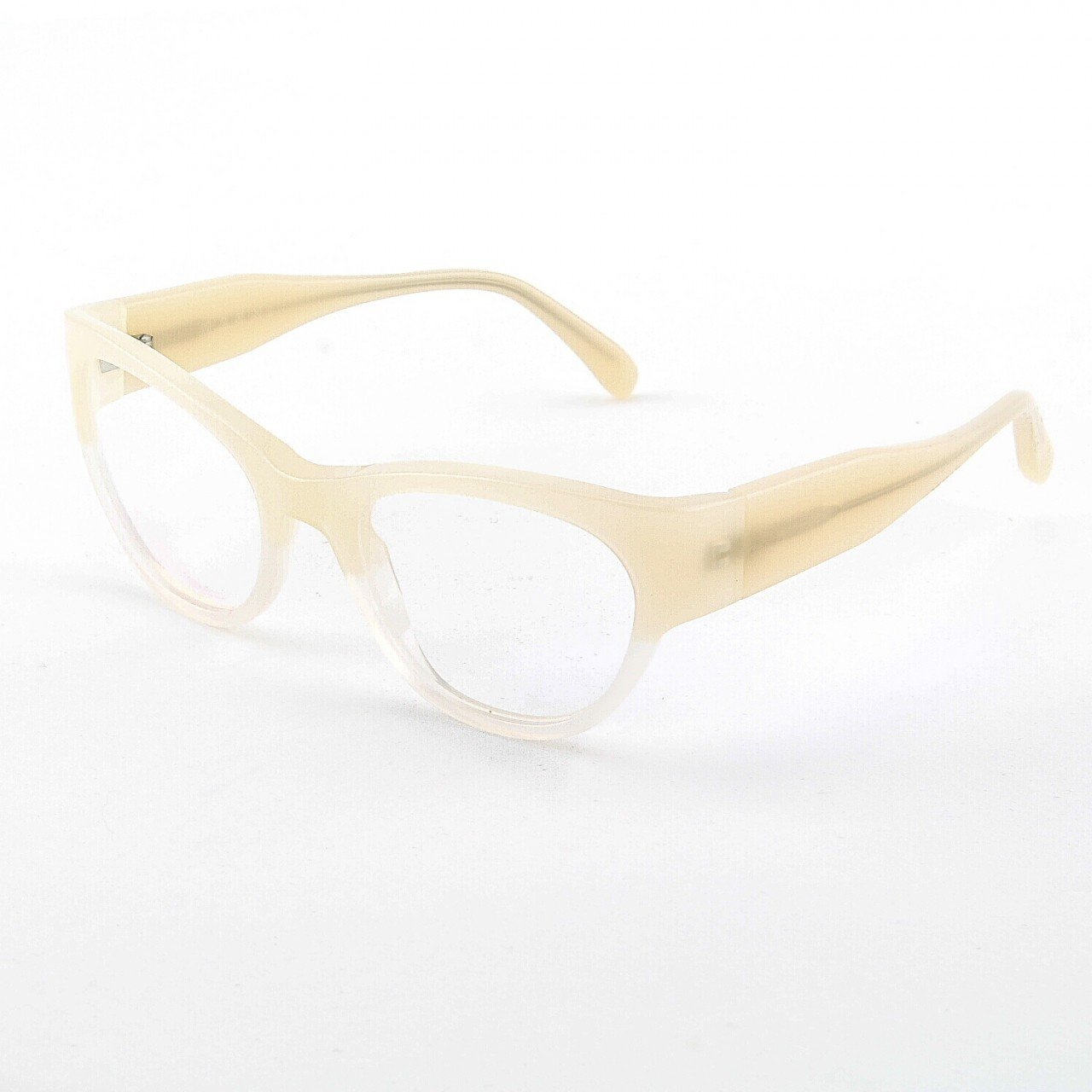 Marni MA683S Eyeglasses Col. 07 Two-tone Translucent Cream with Clear Lenses